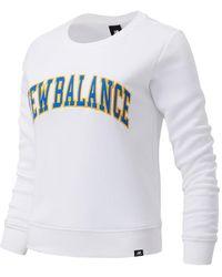 New Balance Nb Athletics Varsity Crew - White