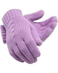 New Balance Lux Knit Gloves - Purple