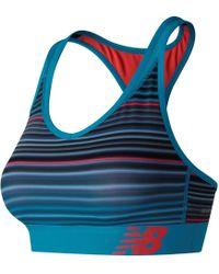 New Balance - Wb71035 Pace Printed Sports Bra - Lyst