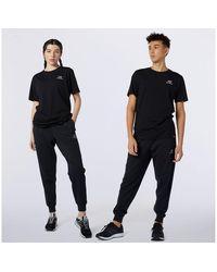 New Balance Uomo NB Essentials Embroidered Pant - Nero