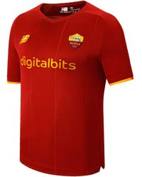 New Balance - As Roma Home Short Sleeve Jersey 2021/22 - Lyst