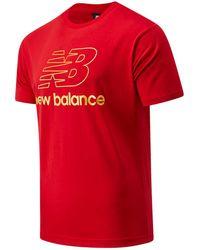 New Balance Homme T-Shirt NB Athletics Podium - Rouge