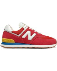 New Balance Hombre 574 - Rojo