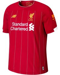 New Balance 930000 Liverpool Fc Home Ss Jersey No Epl Patch - Red