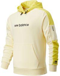 New Balance Nb Athletics Fleece Hoodie - Yellow