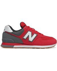 New Balance Homme 574 - Rouge