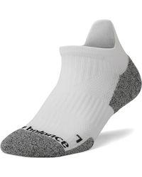 New Balance Cushioned Tab No Show Socks - White