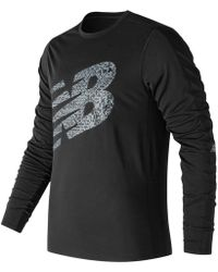 New Balance - Accelerate Graphic Long Sleeve - Lyst