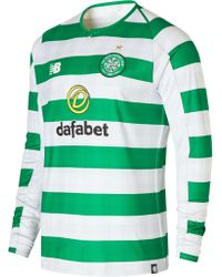 New Balance - New Balance Celtic Fc Home Long Sleeve Jersey - Lyst