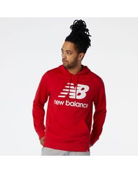 New Balance Nb Essentials Pullover Hoodie - Red