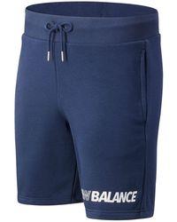 New Balance Herren Essentials Speed Short - Blau