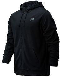 New Balance 01002 Tenacity Lightweight Full Zip Hoodie - Black