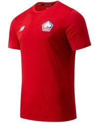 New Balance Men's Lille OSC Pre-Game Short Sleeve Jersey - Rot