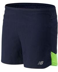 New Balance Impact Run 5 Inch Shorts - Blue