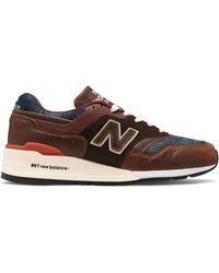 New Balance M997SOC Made in USA Braune & Blaue Schuhe