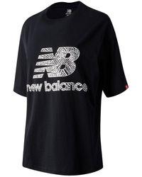 New Balance - Donna T-Shirt NB Athletics Animal Print - Lyst