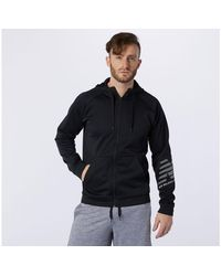 New Balance Uomo Tenacity Fleece Full Zip Hoodie - Nero