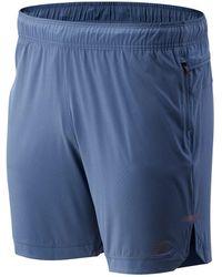 New Balance Q Speed Run Crew Shorts - Blau