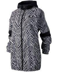New Balance Femme NB Athletics Animal Print Mix Jacket - Noir