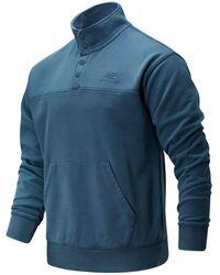 New Balance Uomo NB Athletics Prep Snap Front Pullover - Blu
