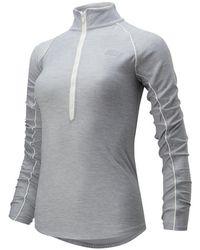 New Balance Damen Transform 1/2 Zip - Grau