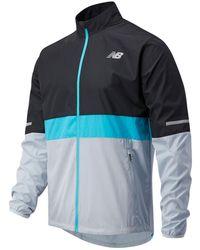 New Balance Uomo Accelerate Jacket - Blu