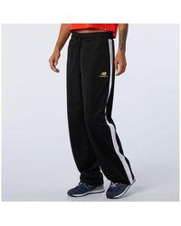 New Balance Nb Athletics Podium Wide Leg Track Pant - Black