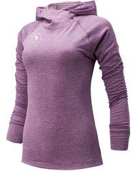 New Balance Nyc Marathon Nb Heat Grid Hoodie - Purple