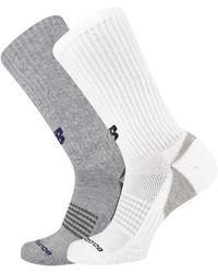 New Balance Unisex Cooling Cushion Performance Crew Socks 2 Pair - Multicolor