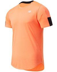 New Balance Uomo Fast Flight Short Sleeve - Arancione