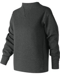 New Balance - 247 Luxe Funnel Neck Crew - Lyst