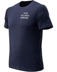 New Balance New Balance Nb Numeric Type T-shirt - Blue