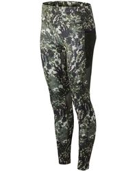 New Balance Donna Leggings London Acceptance Printed Impact Run - Verde