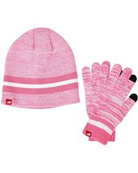 New Balance Beanie and Gloves Gift Set - Pink