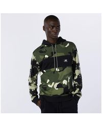 New Balance NB Essentials Fleece Camo Hoodie - Multicolor