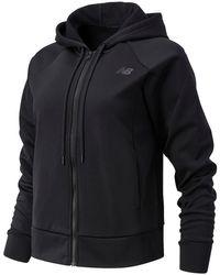 New Balance Donna Giacca Relentless Tech Fleece Full Zip - Nero