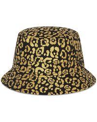 New Era New Era Metallic Leopard Print Bucket Hat - Black