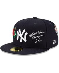 New Era New York Yankees Mlb Icon Navy 59fifty Cap - Blue
