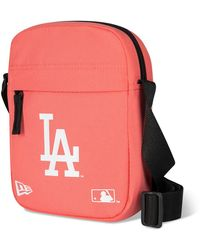 New Era La Dodgers Side Bag - Pink