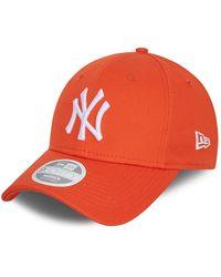 New Era New York Yankees League Essential 9forty Cap - Orange