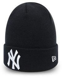 New Era New York Yankees Essential Navy Cuff Beanie Hat - Blue