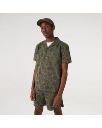 KTZ New Era Floral Print Khaki Revere Shirt - Green