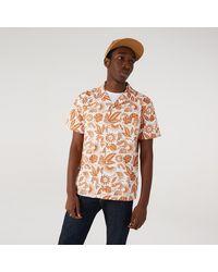 KTZ New Era Floral Print Revere Shirt - White
