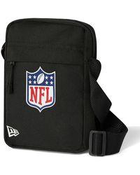 New Era Nfl Logo Side Bag - Black