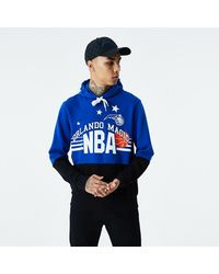 New Era Orlando Magic Throwback Colour Block Hoodie - Blue