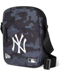 New Era New York Yankees Grey Side Bag