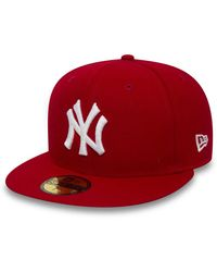 New Era New York Yankees Essential 59fifty Cap - Red