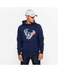 New Era - Houston Texans Team Logo Navy Hoodie - Lyst