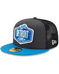 New Era Detroit Lions Nfl Draft 59fifty Cap - Grey