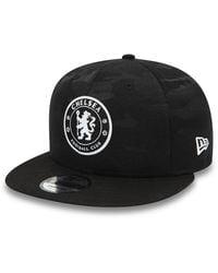 newera Chelsea Fc Camo 9fifty Cap - Black